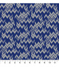 Quilt Block of the Month Coordinating Fabric -Navy Chevron
