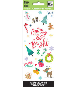The Happy Planner Stickers-Merry And Bright