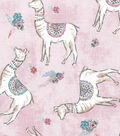 Novelty Cotton Fabric-Sophisticated Llamas on Pink