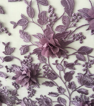 Gianna All Over 3D Embroidered Fabric 55''