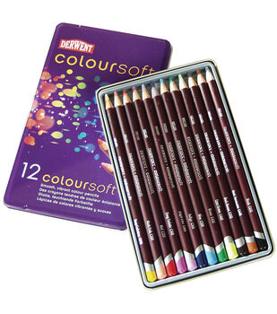 Derwent Coloursoft Pencil Tin 12/Pkg