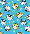 Snuggle Flannel Fabric -Bubble Kitties