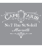 DecoArt Americana Decor 12''x12'' Stencil-Cafe Paris, , hi-res