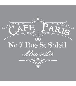 DecoArt Americana Decor 12''x12'' Stencil-Cafe Paris