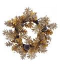 Blooming Autumn Oak & Pinecone Wreath-Metallic