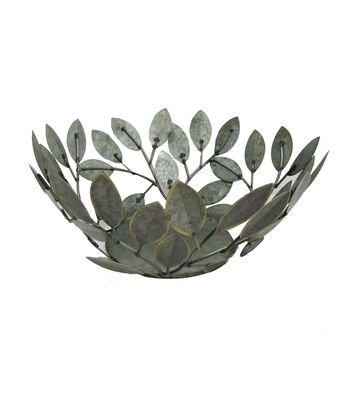 Blooming Autumn Small Metal Leaf Bowl