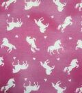 Doodles Juvenile Interlock Knit Fabric 57\u0027\u0027-Unicorns on Pink