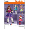 Simplicity Pattern 1350-Child\u0027s and Girls\u0027 Costumes