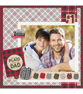 Simple Stories Plaid Dad 12\u0027\u0027x12\u0027\u0027 Simple Set