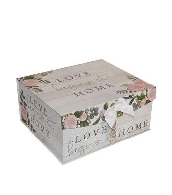 Large Fliptop Storage Box-Floral