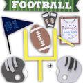 K&Company Dimensional Stickers-Football Fun