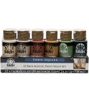 FolkArt 2 oz. Acrylic Paint Value Set-Town Square, , hi-res