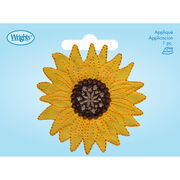 Large Yellow Sunflower Iron-On, , hi-res