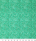 Keepsake Calico Cotton Fabric-Green & Glitter Scattered Dots
