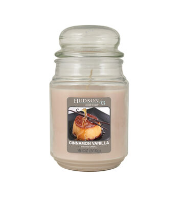 Hudson 43 Candle & Light Collection 18oz Value Jar Vanilla Cinnamon