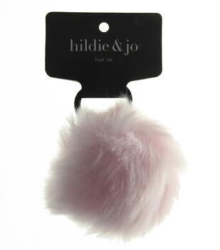 hildie & jo Pom Hair Tie-Light Pink