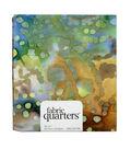 Fabric-Quarters Assorted Batik Fabric-Lime