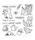 Hero Arts 16 pk Clear Stamps-Ice Fishing