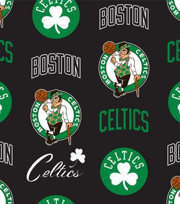 Boston Celtics Fleece Fabric -Tossed