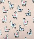 Doodles Juvenile Apparel Fabric -Llama Love
