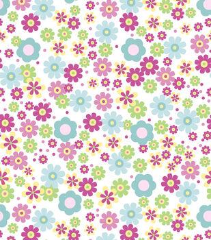 Nursery Flannel Fabric-Deer Bright Floral