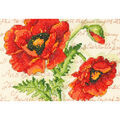 Poppy Pair Mini Counted Cross Stitch Kit-7\u0022X5\u0022 14 Count