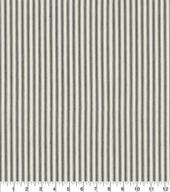 "Waverly Upholstery Fabric 13x13"" Swatch-Classic Ticking Black"