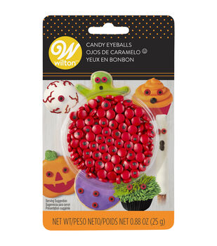 Wilton Candy Eyeballs-Red Mini
