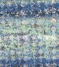 Knit Apparel Fabric-Foil Splatter on Blue Ombre