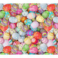 Easter Cotton Fabric-Photo Real Pastel Eggs