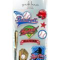 Park Lane Paperie 9 pk 3D Stickers-Baseballs