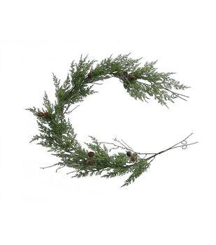 Handmade Holiday Christmas 66'' Snowy Cypress Garland