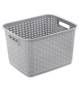 Sterilite Tall Weave Basket-Cement