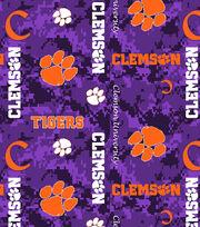 "Clemson University Tigers Fleece Fabric 60""-Digital Camo, , hi-res"