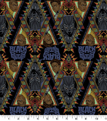 "Marvel Black Panther Cotton Fabric 43""-Allover"