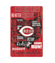 Cincinnati Reds Wordage Sign, , hi-res