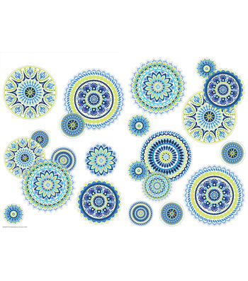 Eureka Two-Sided Deco Kits-Blue Harmony 2 Sided Deco Kits