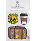 Park Lane Paperie 3 pk Imitation Leather Stickers-Road Trip