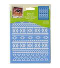 DecoArt Americana Mixed Media 6\u0027\u0027x8\u0027\u0027 Stencil-Aztec Pattern