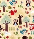 Snuggle Flannel Fabric 42\u0027\u0027-Woodland Forest Friends