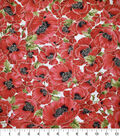 Premium Cotton Fabric 44\u0027\u0027-Packed Poppies