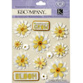 K&Company 13 pk Daisies Embellishment Dimensionals Stickers