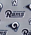 LA Rams Fleece Fabric -Logo on Gray
