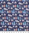 Novelty Cotton Fabric -Beach Life