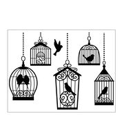 Embossing Folder Birdcages, , hi-res