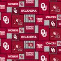 University of Oklahoma Sooners Fleece Fabric-College Patch