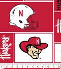 University of Nebraska Cornhuskers Fleece Fabric -Block