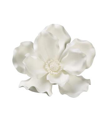 Bloom Room 13'' Magnolia Hanging Flower Head-Cream & White