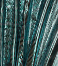 Metallics Bodre Fabric -Turquoise