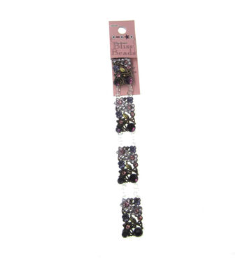 Halcraft Bliss Beads Floral Connectors-Purple & Brass
